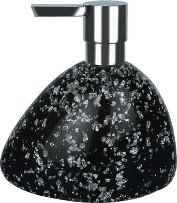 Дозатор для жидкого мыла Spirella Etna Glitter, полирезин, отдельностоящий, чёрный 1016528