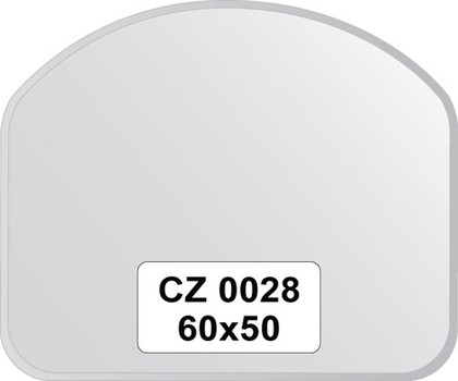 Зеркало для ванной 60x50см с фацетом 10мм FBS CZ 0028