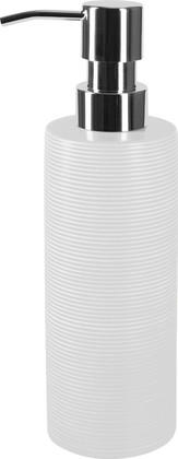 Ёмкость для жидкого мыла керамика, белый Spirella Tube Ribbed 1018231