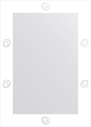 Зеркало для ванной с орнаментом 50x70см FBS CZ 0728