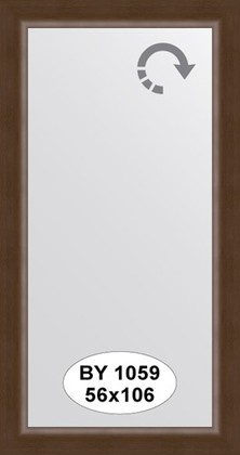 Зеркало 56x106см в багетной раме орех Evoform BY 1059