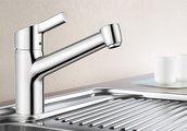 Классический смеситель кухонный однорычажный, нержавеющая сталь Blanco ELIPSO II 514882
