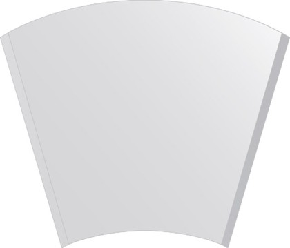 Зеркало для ванной 40/70x60см с фацетом 10мм FBS CZ 0409