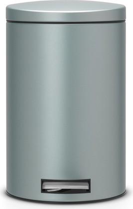 Ведро для мусора 12л с педалью, MotionControl, мятный металлик Brabantia 484209
