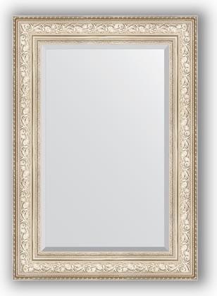 Зеркало с фацетом в багетной раме 70x100см виньетка серебро 109мм Evoform BY 3452