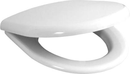 Сиденье для унитаза с крышкой, стальные петли, белое Jika Era 915330000001