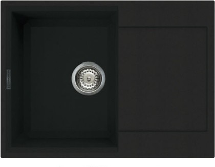 Кухонная мойка оборачиваемая с крылом, гранит, чёрный Omoikiri Sakaime 68-BL 4993108