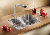 Кухонная мойка без крыла, основная чаша справа, нержавеющая сталь зеркальной полировки Blanco Andano 340/180-IF 518319