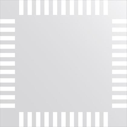 Зеркало для ванной с орнаментом 60x60см FBS CZ 0717