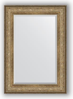 Зеркало с фацетом в багетной раме 70x100см виньетка античная бронза 109мм Evoform BY 3451