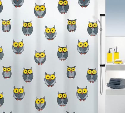 Штора для ванны 180x200см серая Spirella OWL 1016132
