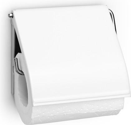 Держатель для туалетной бумаги Brabantia, с крышкой, белый 414565