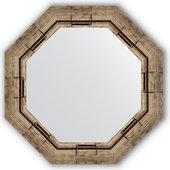 Зеркало Evoform Octagon 540x540 в багетной раме 73мм, серебряный бамбук BY 3667