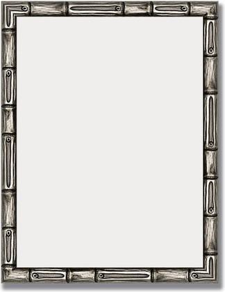 Зеркало 34x44см в багетной раме серебро-бамбук Evoform BY 1329
