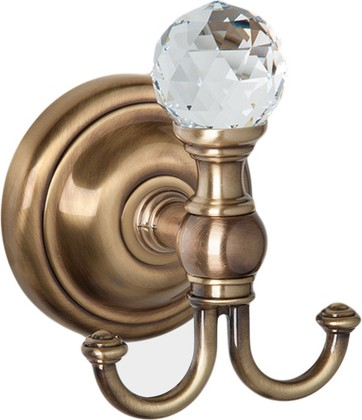 Крючок для ванной TW Crystal, бронза с кристаллом swarovski TWCR016br-sw
