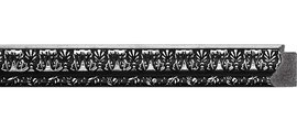 Зеркало 70x90см в багетной раме чернёное серебро Evoform BY 1033