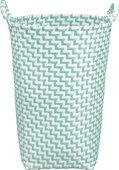 Корзина для белья Kleine Wolke Laundry Box 35x35x50см, зелёный, белый 5882607860