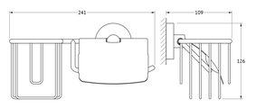Держатель освежителя и туалетной бумаги с крышкой, хром Ellux ELE 068