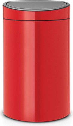 Ведро для мусора 40л, пламенно-красный Brabantia Touch Bin 114960