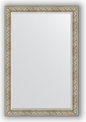 Зеркало с фацетом в багетной раме 120x180см барокко серебро 106мм Evoform BY 3632
