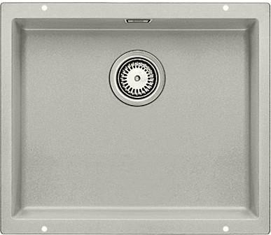Кухонная мойка без крыла, с клапаном-автоматом, гранит, жемчужный Blanco Subline 500-U 520658