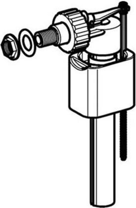 """Заливной механизм для бачка 3/8"""" подвод воды сбоку Geberit Impuls 136.723.00.1"""