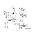 Сливная арматура для моек Omoikiri WK-1-R-IN, с круглым переливом, нержавеющая сталь 4956486