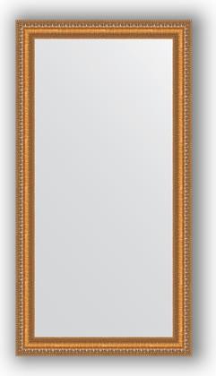 Зеркало в багетной раме 55x105см золотые бусы на бронзе 60мм Evoform BY 3074