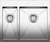 Кухонная мойка без крыла, с клапаном-автоматом, нержавеющая сталь зеркальной полировки Blanco Zerox 340/180-IF/A 513701