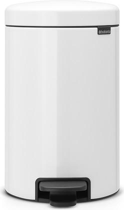 Мусорный бак с педалью 12л, белый Brabantia Newicon 111969