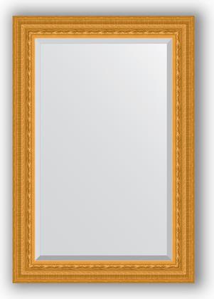 Зеркало 65x95см с фацетом 30мм в багетной раме сусальное золото Evoform BY 1274