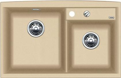 Кухонная мойка основная чаша слева, без крыла, с клапаном-автоматом, гранит, шампань Blanco AXIA II 8 516888