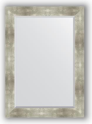 Зеркало 76x106см с фацетом 30мм в багетной раме алюминий Evoform BY 1200