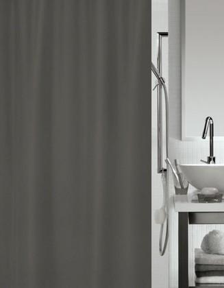 Штора для ванной комнаты 180x200см текстильная серая Spirella ATLAS 4006018