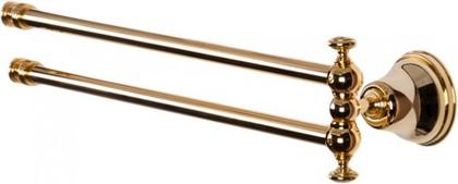 Держатель полотенец поворотный двойной 49см, золото TW Harmony TWHA013oro