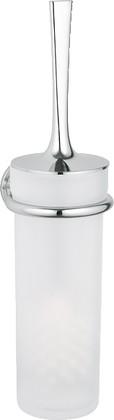 Туалетный ёршик с колбой из матового стекла и настенным хромированным держателем Grohe ONDUS 40380000