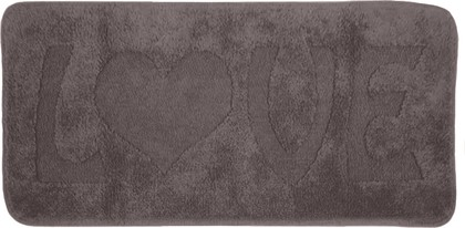 Коврик для ванной комнаты хлопковый 55x110см серый Spirella LOVE 4006799