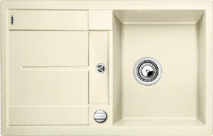 Кухонная мойка оборачиваемая с крылом, с клапаном-автоматом, гранит, жасмин Blanco Metra 45 S-F 519084