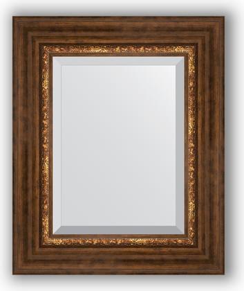 Зеркало с фацетом в багетной раме 46x56см римская бронза 88мм Evoform BY 3361