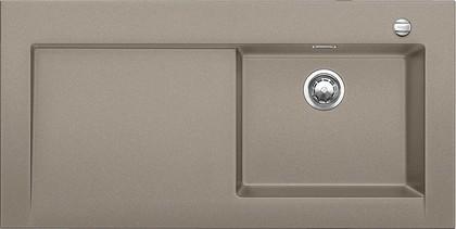 Кухонная мойка крыло слева, с клапаном-автоматом, гранит, серый беж Blanco MODEX-M 60 518334