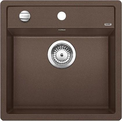 Кухонная мойка без крыла, с клапаном-автоматом, гранит, кофе Blanco Dalago 5-F 518536