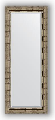 Зеркало 53x133см с фацетом 30мм в багетной раме старый бамбук Evoform BY 1156