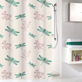 Шторка для ванной Kleine Wolke Scarlett Green 180x200см, 100% полиэстер 5915683305