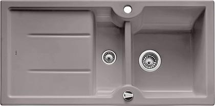 Кухонная мойка оборачиваемая с крылом, с клапаном-автоматом, керамика, базальт Blanco Idessa 6 S 516984