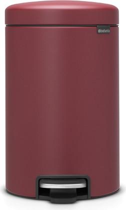 Мусорный бак с педалью 12л, минерально-бордовый Brabantia Newicon 115820