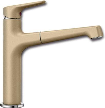 Смеситель кухонный однорычажный с высоким выдвижным изливом, шампань Blanco FELISA-S 520342