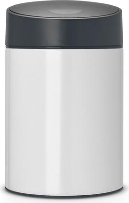 Ведро для мусора Brabantia Slide Bin, 5л, настенное, белый 483165