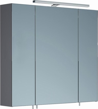 Шкаф зеркальный со светильником, 3 двери 80x15x70см Verona Area+ AA602R