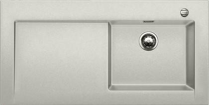 Кухонная мойка крыло слева, с клапаном-автоматом, гранит, жемчужный Blanco Modex-M 60 520591