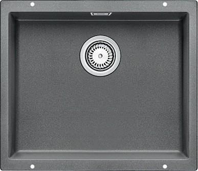 Кухонная мойка без крыла, с клапаном-автоматом, гранит, алюметаллик Blanco SUBLINE 500-U 513414